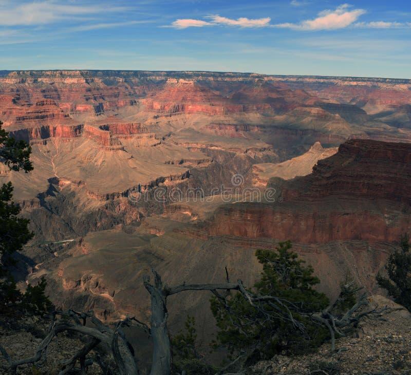 Opiniones de la puesta del sol del Gran Cañón fotografía de archivo