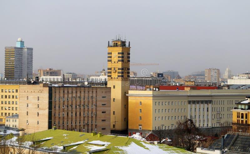 Opiniones de las fotos en el centro de Moscú fotos de archivo