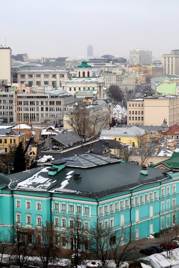 Opiniones de las fotos en el centro de Moscú imágenes de archivo libres de regalías