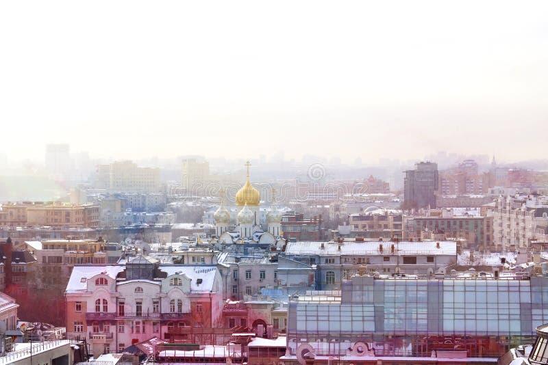 Opiniones de las fotos en el centro de Moscú imagenes de archivo