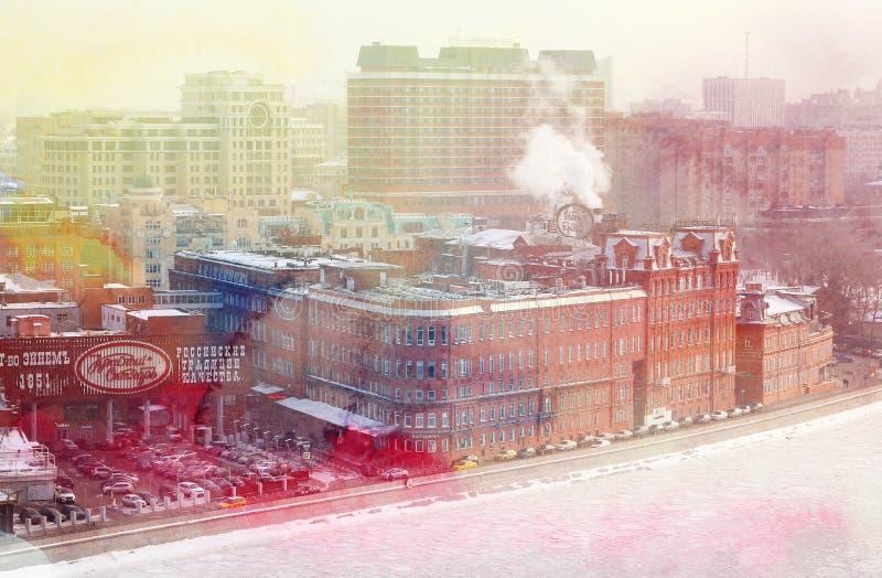 Opiniones de las fotos en el centro de Moscú fotos de archivo libres de regalías