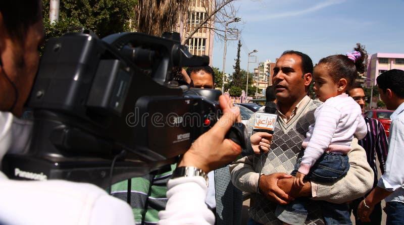 Opiniones de los egipcios sobre reformas constitucionales fotografía de archivo libre de regalías