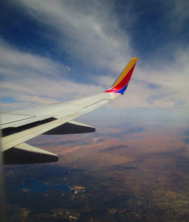 Opiniones del viaje del aeroplano imagen de archivo