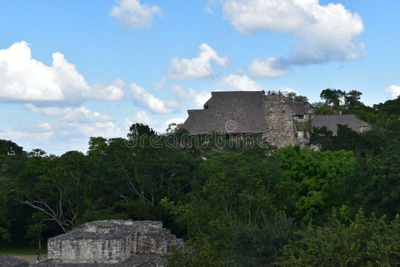 Opiniones mayas de Ek Balam de las ruinas imagen de archivo libre de regalías