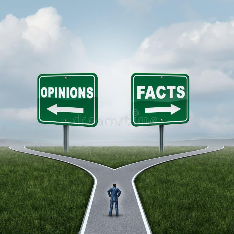 Opiniones o hechos ilustración del vector