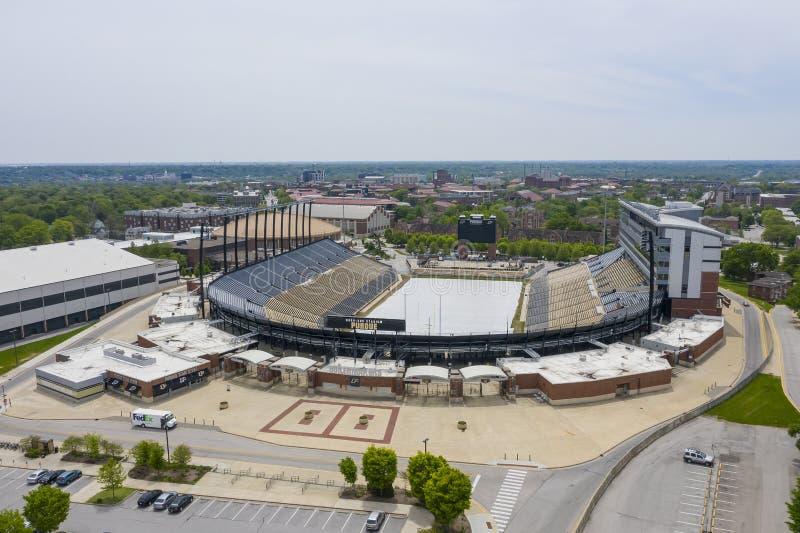 Opiniones a?reas Ross-Ade Stadium On The Campus del Purdue University fotografía de archivo libre de regalías