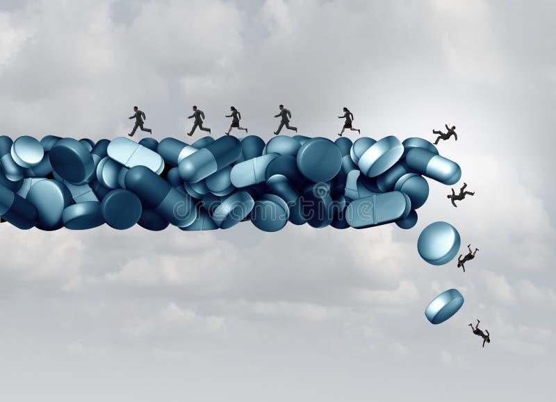 Opioid ryzyko zdrowotne royalty ilustracja