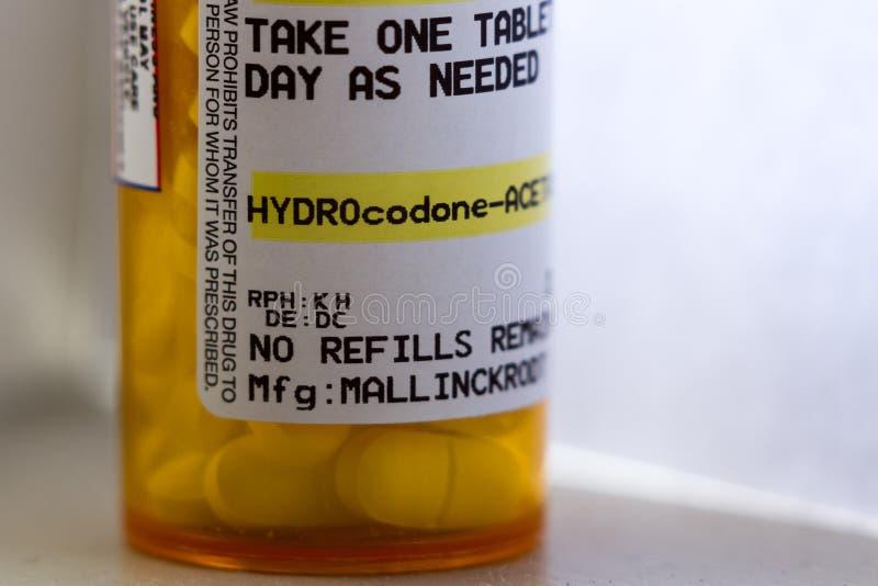 Opioiden smärtar relieveren arkivfoton