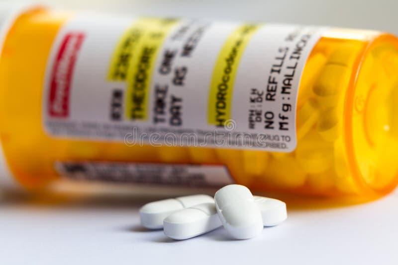 Opioiden smärtar relieveren arkivfoto