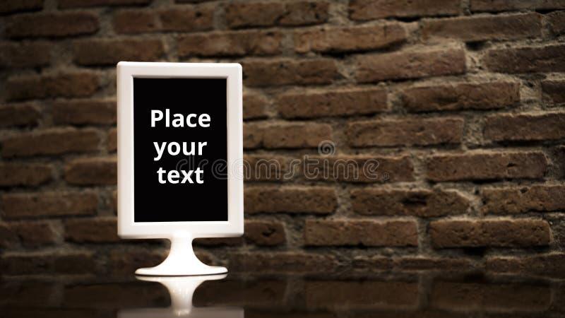 Opisywany menu położenie na tablem obraz royalty free