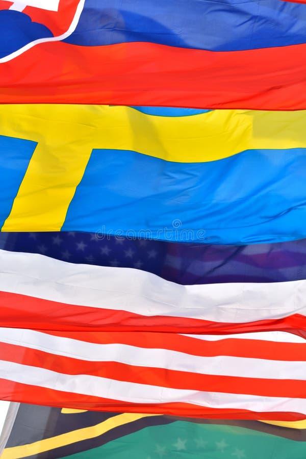 Opisywany tło komponujący różnymi flaga państowowa obraz royalty free