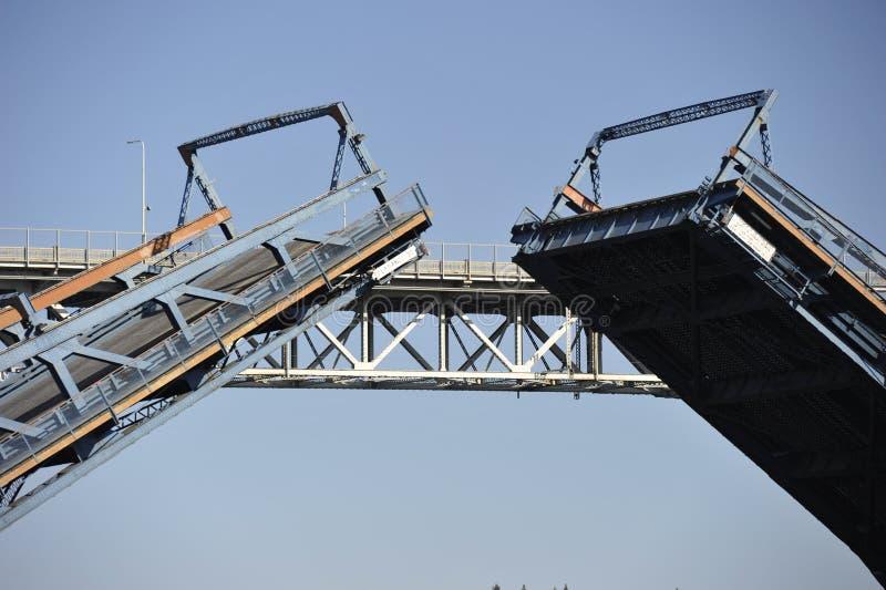 Opklapbrug, Seattle, de V.S. royalty-vrije stock foto's