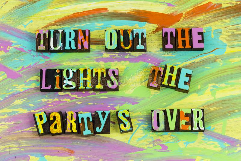 Opkomstlicht partys over stock illustratie