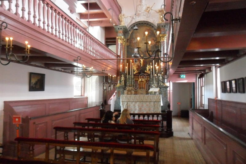 OPlötmittel Ons-` Lieve Heers oder die heimliche Kirche in Amsterdam stockfoto