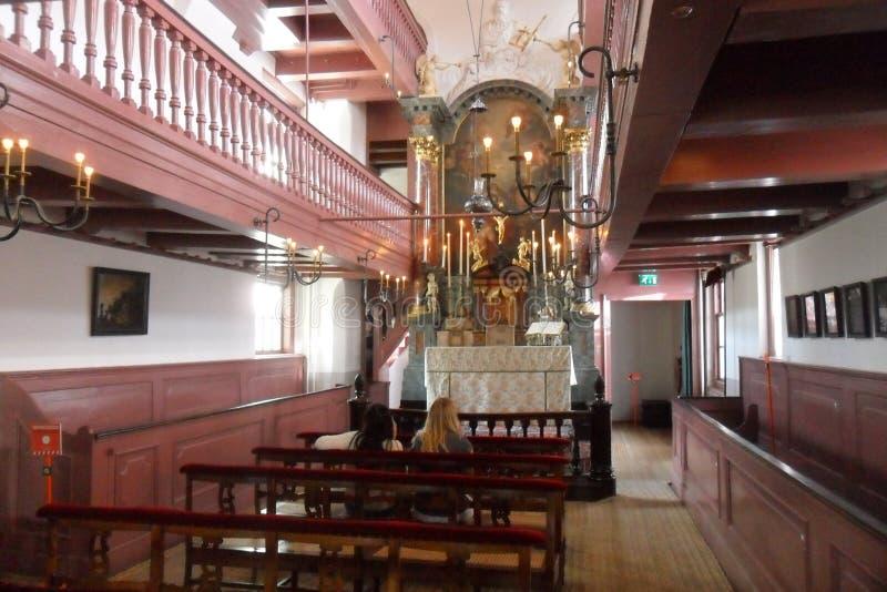 OPlötmittel Ons-` Lieve Heers oder die heimliche Kirche in Amsterdam lizenzfreie stockbilder