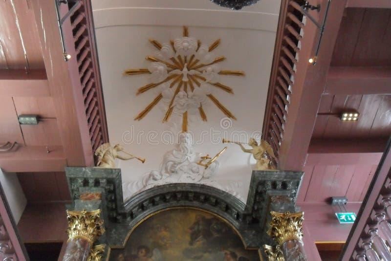 OPlötmittel Ons-` Lieve Heers oder die heimliche Kirche in Amsterdam stockfotografie