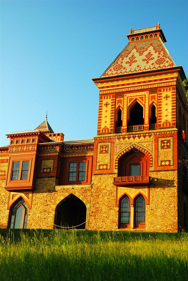 Olana Mansion, New York. The OPlana Mansion is a historical home built in an Arabesque style in New York stock photography
