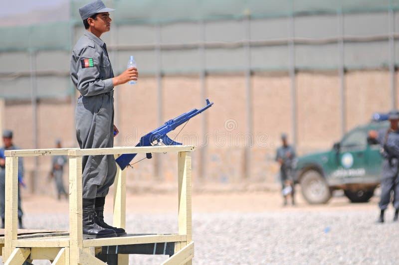 Opleidende 6 van Afghaanse politieagenten stock afbeelding