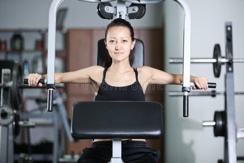 Download Opleiding in de gymnastiek stock foto. Afbeelding bestaande uit vrolijk - 29503338