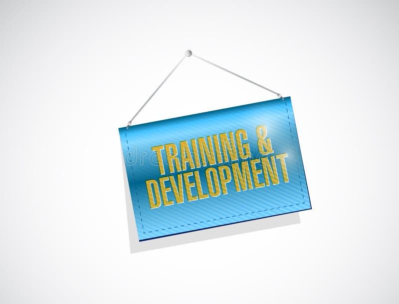 opleiding en ontwikkeling hangend teken royalty-vrije illustratie