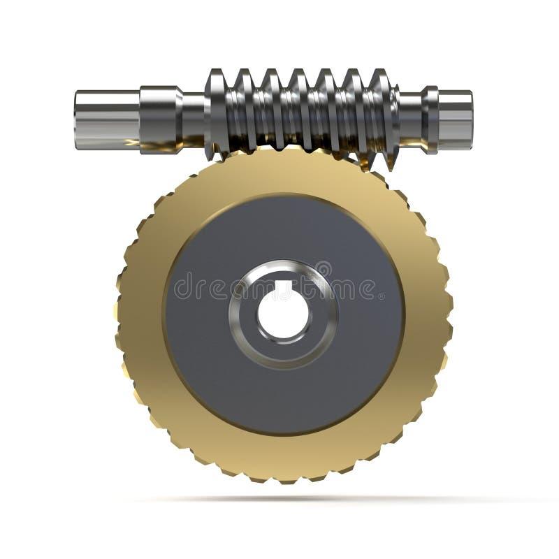 Opleidingsbeeld van de assemblage van het wormtoestel, 3d illustratie vector illustratie