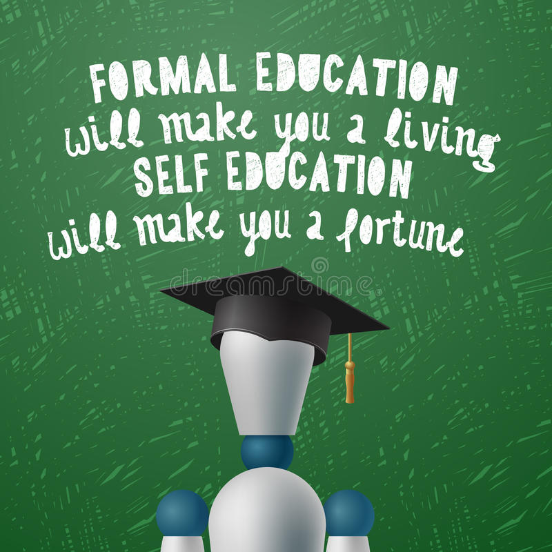 Opleidingsontwikkeling, zelfonderwijsconcept royalty-vrije illustratie