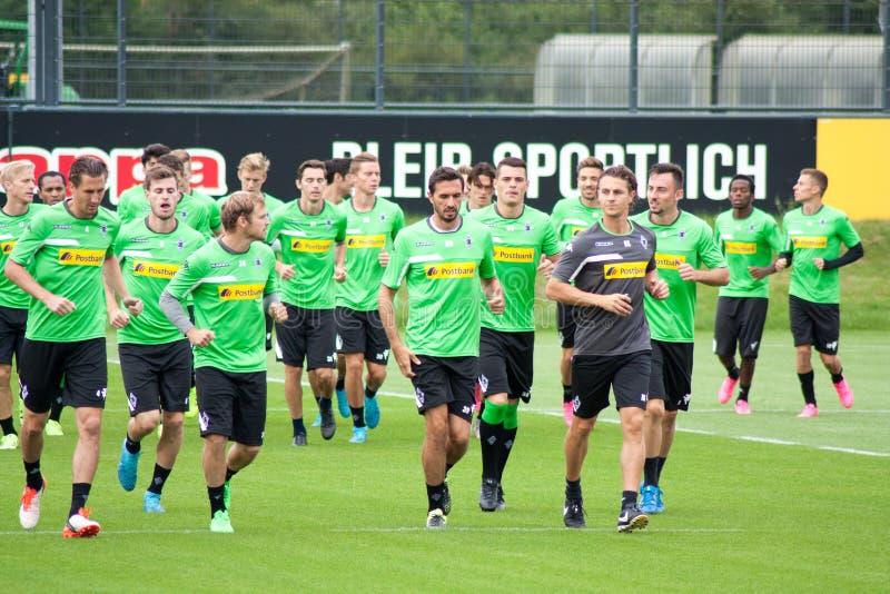 opleidingssessie van Duitse voetbalclub VFL Borussia Mönchengladbach royalty-vrije stock foto