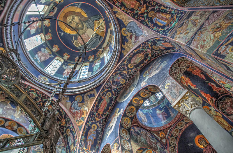 Oplenac的,塞尔维亚圣乔治的教会 免版税库存照片
