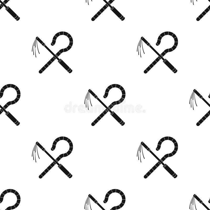 Oplichter en dorsvlegelpictogram in zwarte die stijl op witte achtergrond wordt geïsoleerd De oude van de het patroonvoorraad van vector illustratie