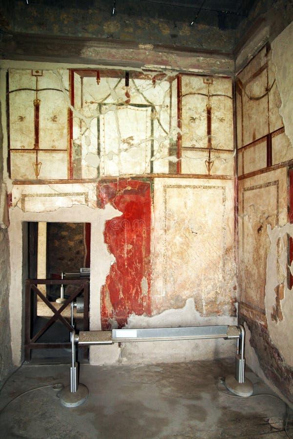 Oplontis壁画 库存图片