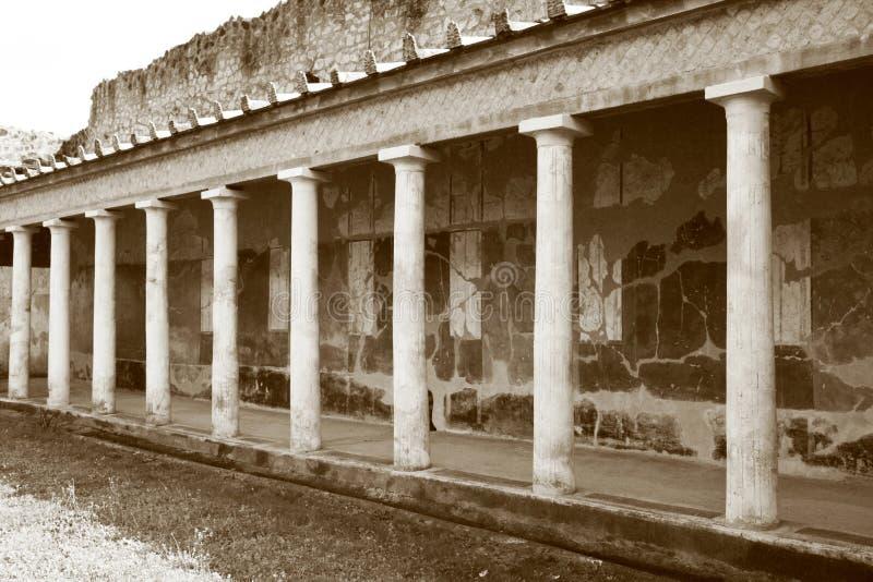 Oplontis-Säulenhalle lizenzfreies stockfoto