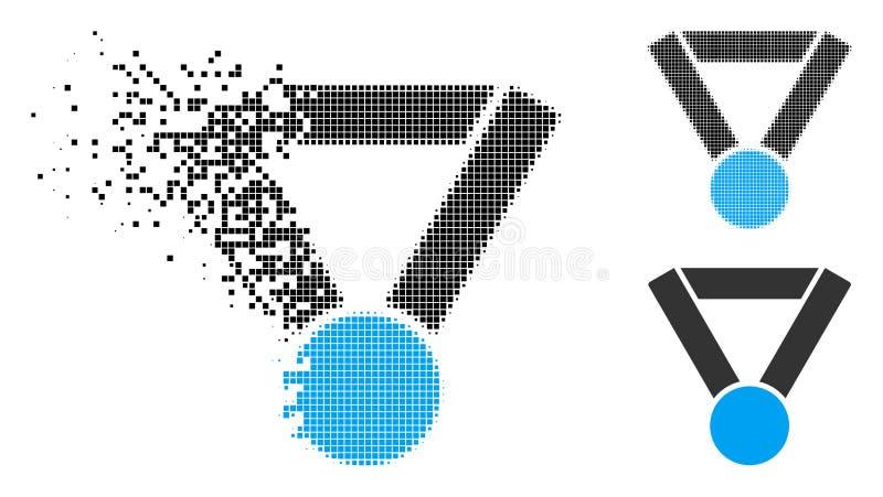 Oplossend de Toekenningspictogram van de Pixel Halftone Kampioen royalty-vrije illustratie