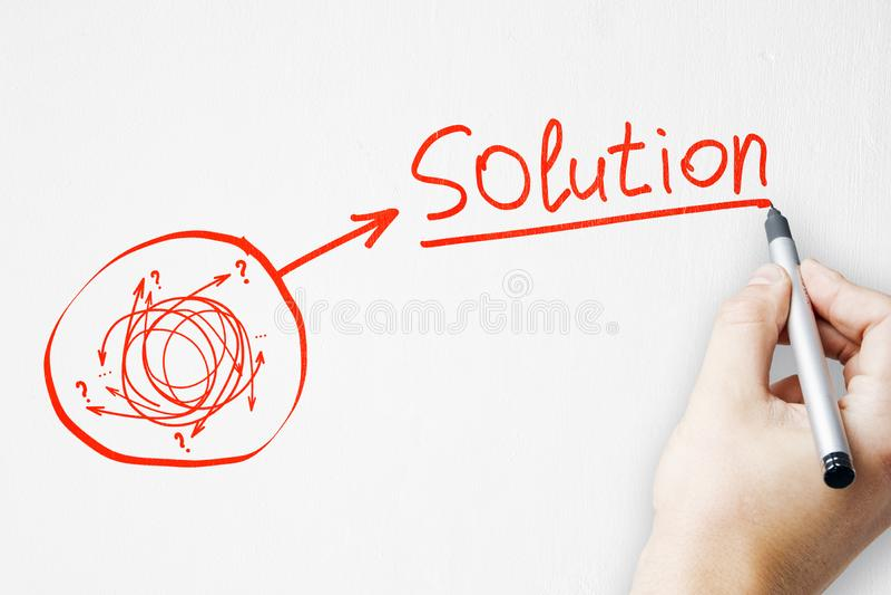 Oplossing en manierconcept stock afbeelding