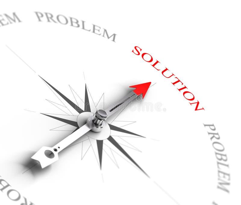 Oplossing versus Probleem het Oplossen - het Bedrijfs Raadplegen stock illustratie