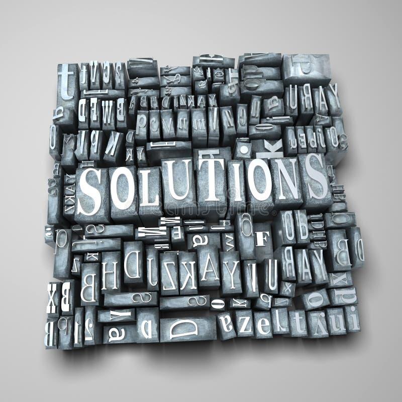 Oplossingen vector illustratie