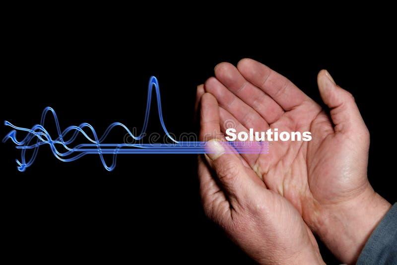 Oplossingen 7 stock afbeelding