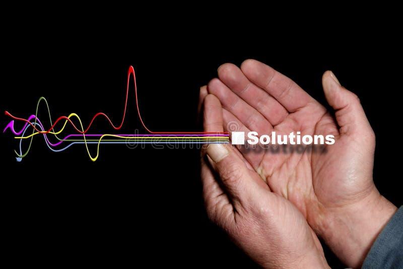 Oplossingen 9 stock fotografie