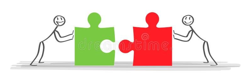 Oplossingen Bedrijfsteam en partner die achtergrond samenwerken Concepten bedrijfs bedrijfs vectorillustratie stock illustratie