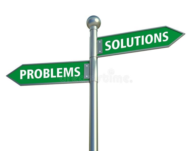 Oplossingen en problemen stock foto