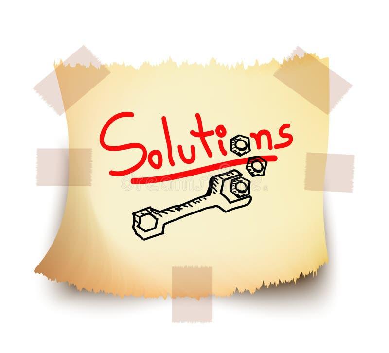 Oplossingen, Vector royalty-vrije illustratie
