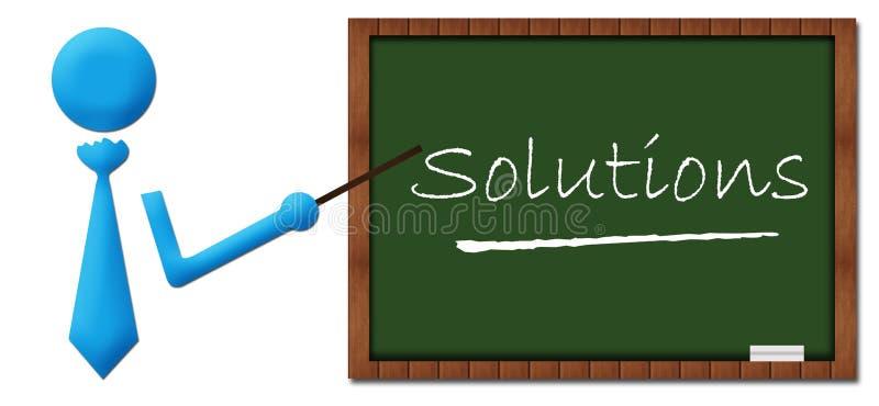 Oplossingenmens met Greenboard stock illustratie