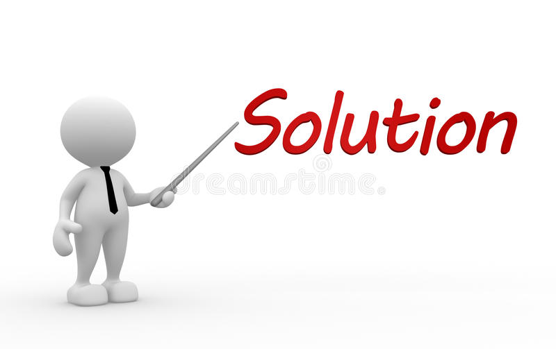 Oplossingsconcept stock illustratie