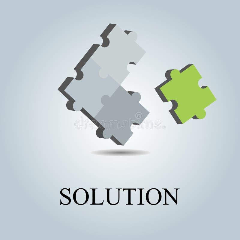 Oplossingsembleem stock illustratie