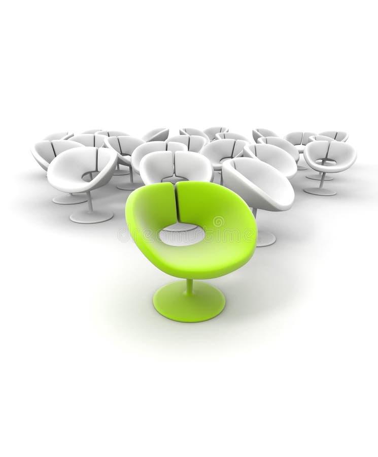 Opmerkelijke groene stoel vector illustratie
