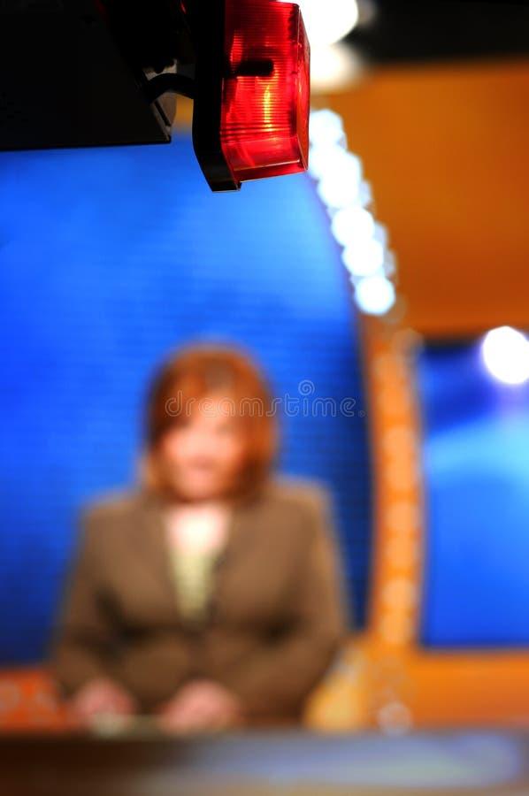Opname in de studio van TV royalty-vrije stock fotografie
