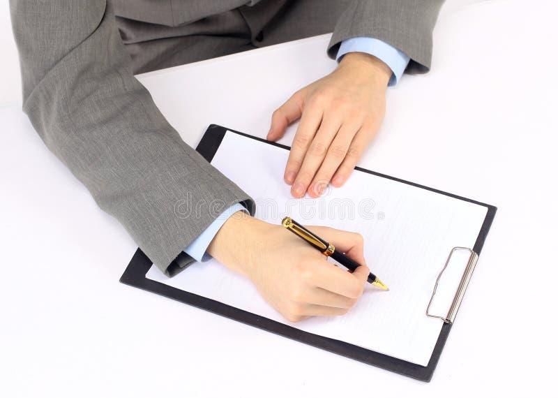 Opname van het werkplan royalty-vrije stock foto