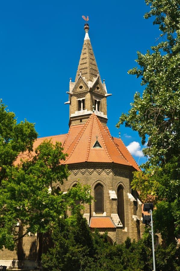 Opnieuw gevormde kerk van Szeged stock afbeelding