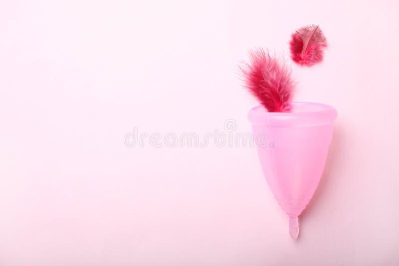 Opnieuw te gebruiken silicone menstruele kop royalty-vrije stock fotografie