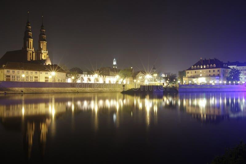 Opole bis zum Nacht stockbild