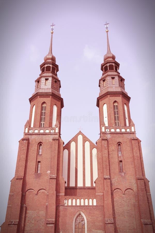Opole-Kathedrale, Polen stockfotografie